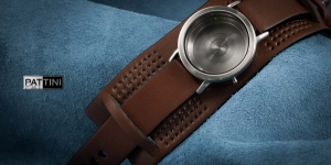 Leather wide watch strap mod.13 example (04)