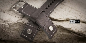 Leather watch strap mod.58 example (03)