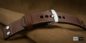 Leather watch strap mod.66 example (03)