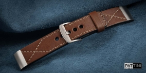 Leather watch strap mod.101 + modification