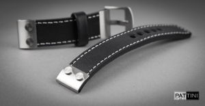 Leather watch strap mod.106 + modification