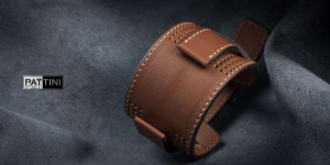 Leather wide watch strap mod.13 example (08)