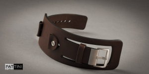 Leather wide watch strap mod.15 example (07)
