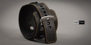 Leather wide watch strap mod.15 example (09)