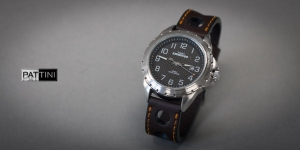 Leather strap for Timex Expedition watch mod.65 example (27)