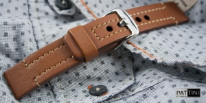 Leather watch strap mod.62 + modification