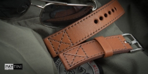 Leather watch strap mod.71 + modification
