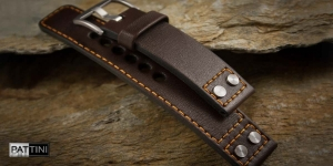Leather watch strap mod.76 + modification