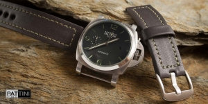 Leather strap for Marina Militare watch mod.67 example (01)