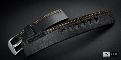 leather watch strap with MONSTER