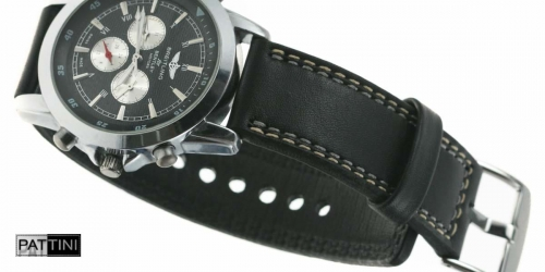 black watch strap double stitching + BREITLING watch