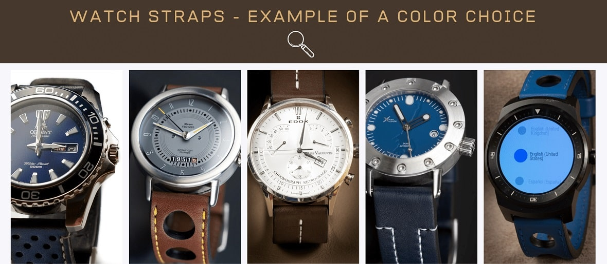 Watch straps - example of a color choice