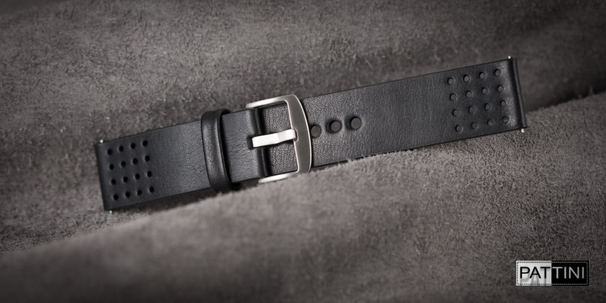 perforated watch strap