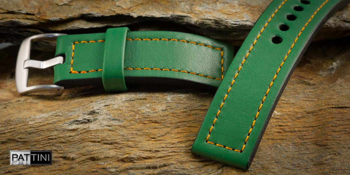 green watch strap